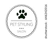 logo for pet hair salon ...   Shutterstock . vector #646242016