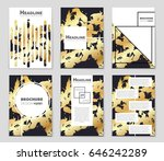 abstract vector layout... | Shutterstock .eps vector #646242289