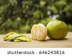orange and background blurred | Shutterstock . vector #646243816