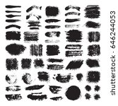 vector illustration of brush... | Shutterstock .eps vector #646244053