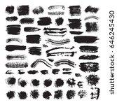 vector illustration of brush... | Shutterstock .eps vector #646245430