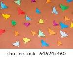 colorful bright handmade paper... | Shutterstock . vector #646245460