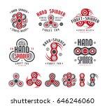 set of hand spinner logo ... | Shutterstock .eps vector #646246060