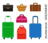 travel bag set | Shutterstock .eps vector #646246840