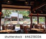 restaurant in resort   Shutterstock . vector #646258336