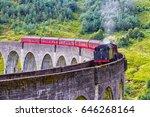 glenfinnan railway viaduct in... | Shutterstock . vector #646268164