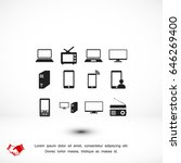 communication device icons ... | Shutterstock .eps vector #646269400