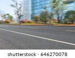 empty asphalt road front of... | Shutterstock . vector #646270078