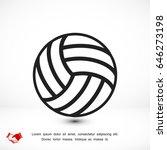 basketball outline icon  vector ... | Shutterstock .eps vector #646273198