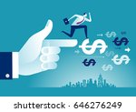 helping hand. hand helps... | Shutterstock .eps vector #646276249