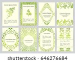 vector templates for a4 with... | Shutterstock .eps vector #646276684