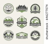 adventure outdoor vintage... | Shutterstock .eps vector #646277074