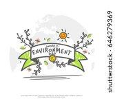 illustration of world... | Shutterstock .eps vector #646279369