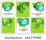 creative poster or banner set... | Shutterstock .eps vector #646279480