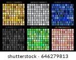 super megaset of colorful... | Shutterstock .eps vector #646279813