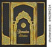 ramadan kareem greeting card...   Shutterstock .eps vector #646284214