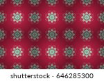 floral seamless pattern with... | Shutterstock . vector #646285300
