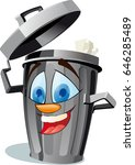 a funny trash canfully removes... | Shutterstock .eps vector #646285489