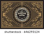 old card style card with floral ... | Shutterstock .eps vector #646293124