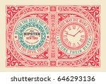 vintage label. baroque ornaments   Shutterstock .eps vector #646293136