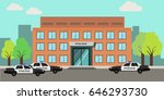 police station building | Shutterstock .eps vector #646293730