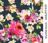 seamless summer pattern for... | Shutterstock . vector #646297459