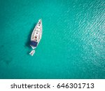 white yacht berthed on adriatic ... | Shutterstock . vector #646301713