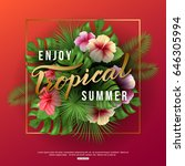 vector illustration of enjoy... | Shutterstock .eps vector #646305994