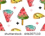 hand drawn vector abstract... | Shutterstock .eps vector #646307110