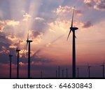 Wind Turbines Farm. Alternative ...