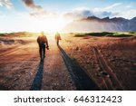 fantastic west of the mountains ... | Shutterstock . vector #646312423