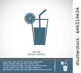 vector glass of juice icons    Shutterstock .eps vector #646314634