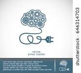 creative brain idea | Shutterstock .eps vector #646314703