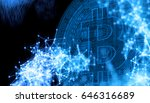 bitcoins  new virtual money on... | Shutterstock . vector #646316689