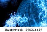 bitcoins  new virtual money on... | Shutterstock . vector #646316689