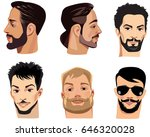 vector portraits of face men... | Shutterstock .eps vector #646320028