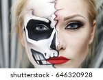 the process of creating makeup... | Shutterstock . vector #646320928