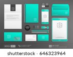 business stationery mockup... | Shutterstock .eps vector #646323964
