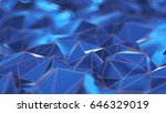 3d low poly pattern extrude... | Shutterstock . vector #646329019