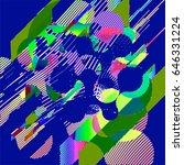 abstract vector background dot... | Shutterstock .eps vector #646331224