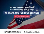 Memorial Day Text On American...