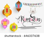 illustration of ramadan kareem... | Shutterstock .eps vector #646337638