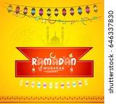 illustration of ramadan kareem... | Shutterstock .eps vector #646337830