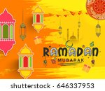 illustration of ramadan kareem... | Shutterstock .eps vector #646337953