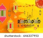 illustration of ramadan kareem... | Shutterstock .eps vector #646337953