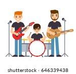 rock group or pop music boys... | Shutterstock .eps vector #646339438