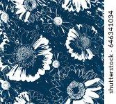 floral seamless pattern. flower ...   Shutterstock . vector #646341034