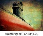 Old Submarine Grunge Background