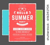 retro summer party design... | Shutterstock .eps vector #646341934