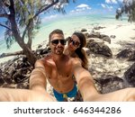 beautiful young couple taking a ...   Shutterstock . vector #646344286